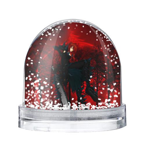 Водяной шар со снегом  Фото 01, Red
