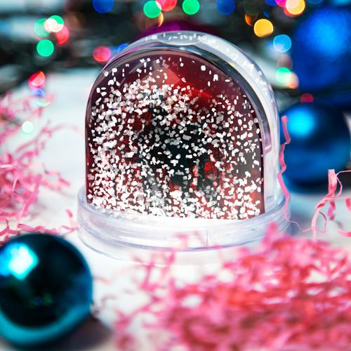 Водяной шар со снегом  Фото 04, Red