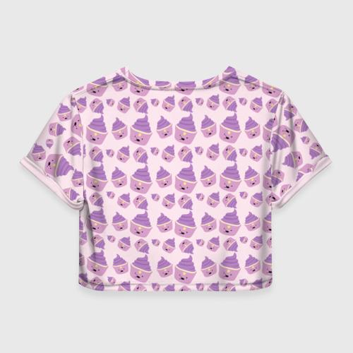 Женская футболка 3D укороченная  Фото 02, Пупырка