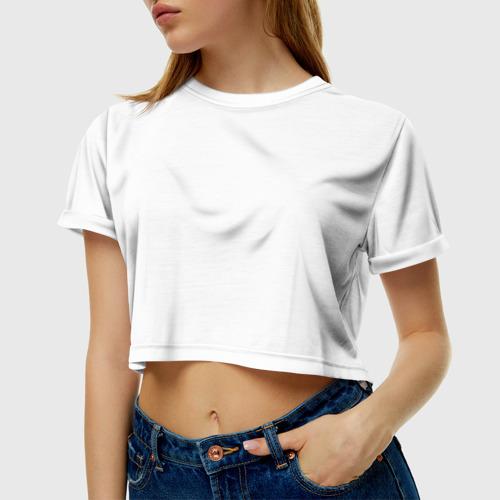 Женская футболка 3D укороченная  Фото 01, Биатлон