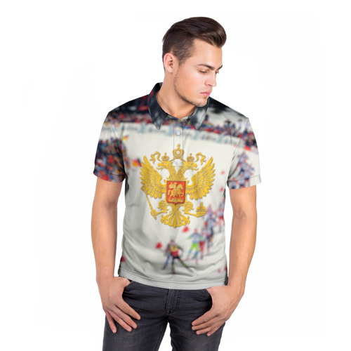 Мужская рубашка поло 3D  Фото 05, Биатлон