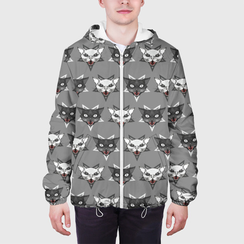 Мужская куртка 3D  Фото 04, Злые котики