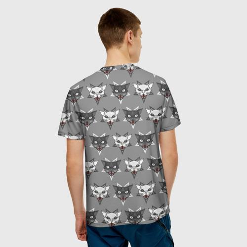 Мужская футболка 3D  Фото 04, Злые котики