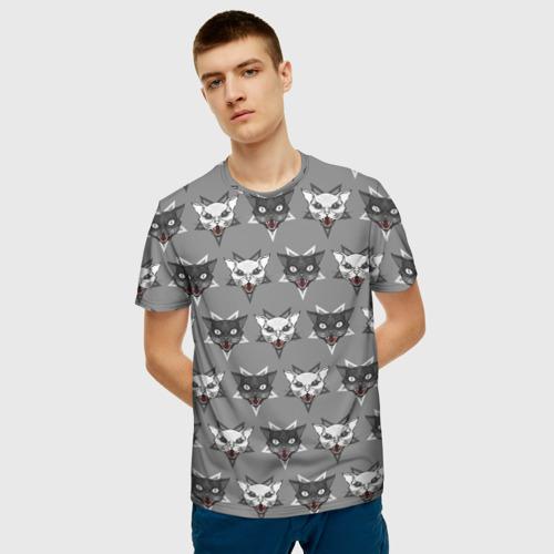 Мужская футболка 3D  Фото 03, Злые котики