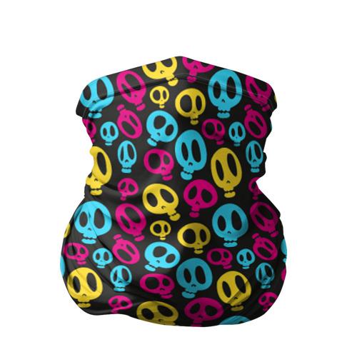 Бандана-труба 3D  Фото 01, Цветные черепушки