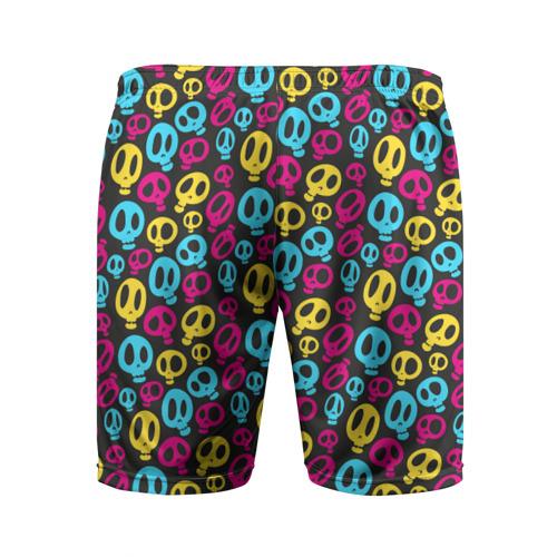 Мужские шорты 3D спортивные  Фото 02, Цветные черепушки