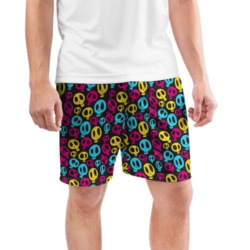 Мужские шорты 3D спортивные  Фото 03, Цветные черепушки