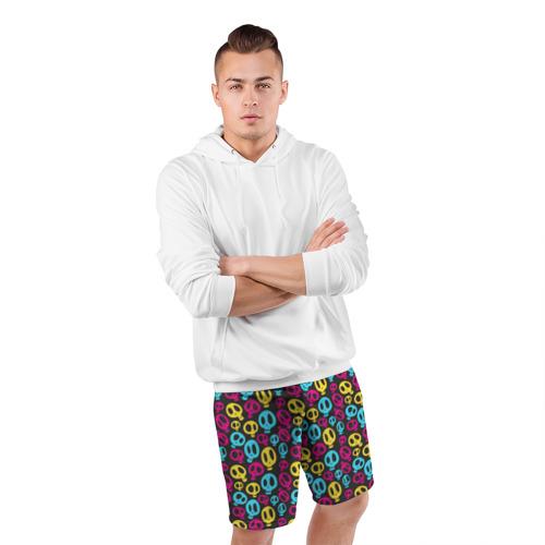 Мужские шорты 3D спортивные  Фото 05, Цветные черепушки