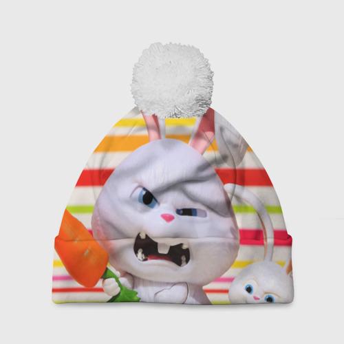 Шапка 3D c помпоном  Фото 01, Злой кролик