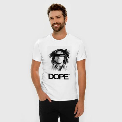Мужская футболка премиум  Фото 03, Bob Marley Dope