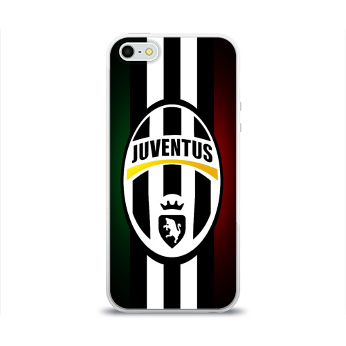 Чехол для Apple iPhone 5/5S силиконовый глянцевый Juventus FC
