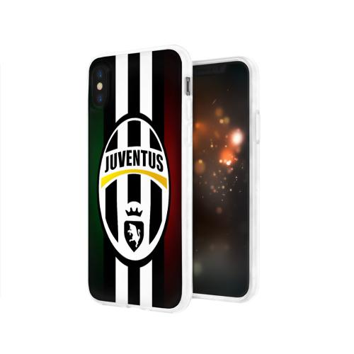 Чехол для Apple iPhone X силиконовый глянцевый  Фото 03, Juventus FC