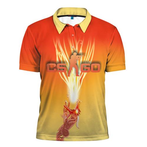 Мужская рубашка поло 3D  Фото 01, Dragon lore cs go