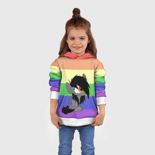 Детская толстовка 3D Литл Пони радуга