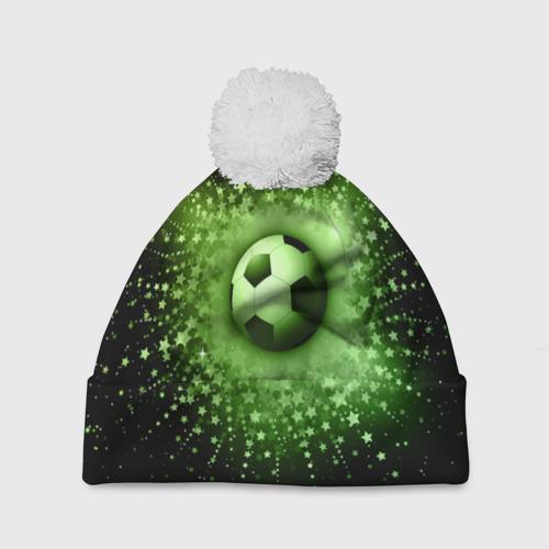 Шапка 3D c помпоном  Фото 01, Футбольный мяч 4
