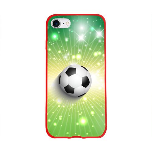 Чехол для Apple iPhone 8 силиконовый глянцевый Футбольный мяч 3