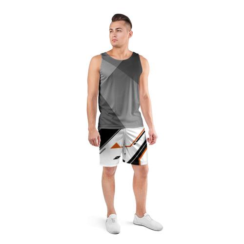 Мужские шорты 3D спортивные  Фото 04, cs:go - Asiimov P250 Style