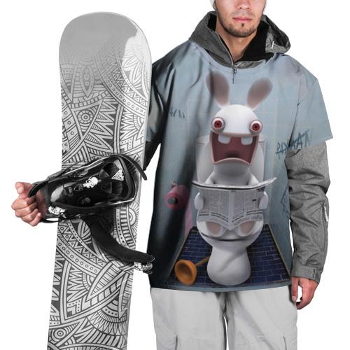 Накидка на куртку 3D  Фото 01, Кролик с газетой