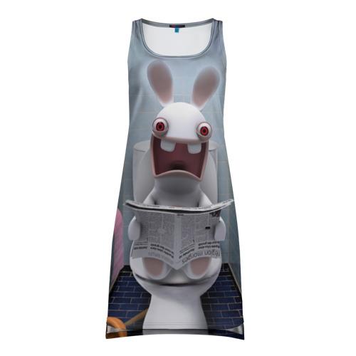 Платье-майка 3D Кролик с газетой Фото 01