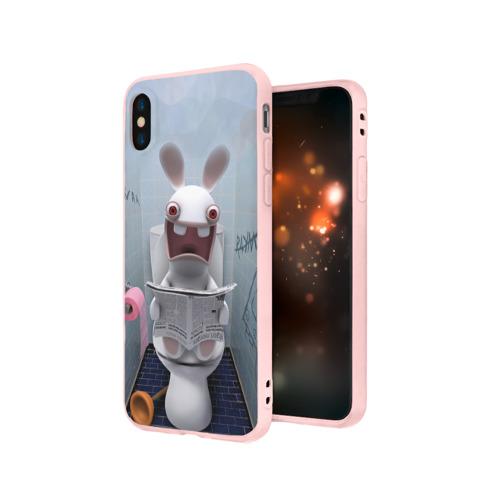 Чехол для Apple iPhone X силиконовый матовый Кролик с газетой Фото 01