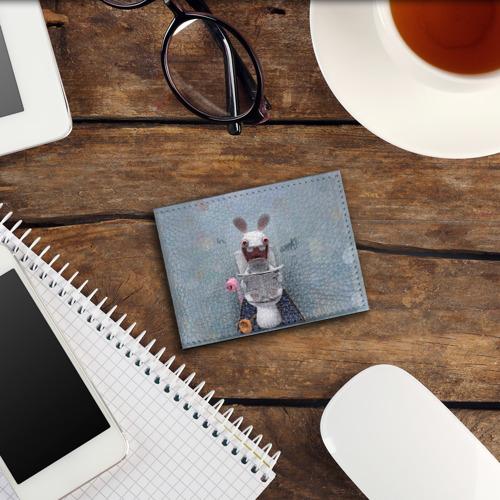 Обложка для студенческого билета Кролик с газетой Фото 01