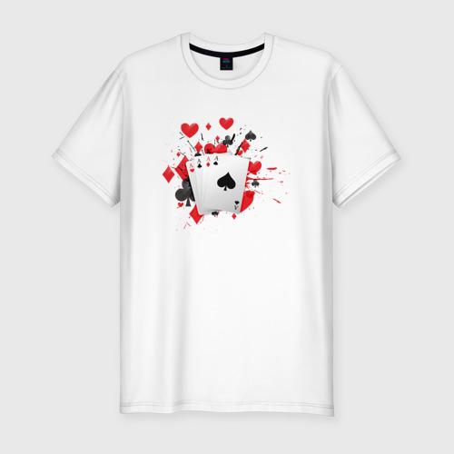 Мужская футболка премиум  Фото 01, Четыре туза