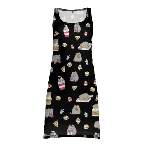 Платье-майка 3D Котики с едой