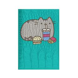 Котик с бургером и фри