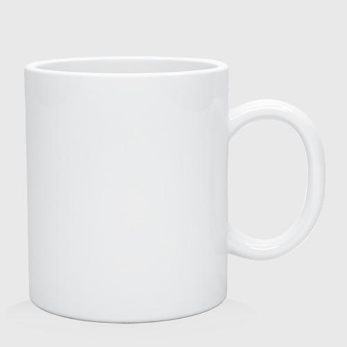 Кружка керамическая Котик с бургером и фри Фото 01