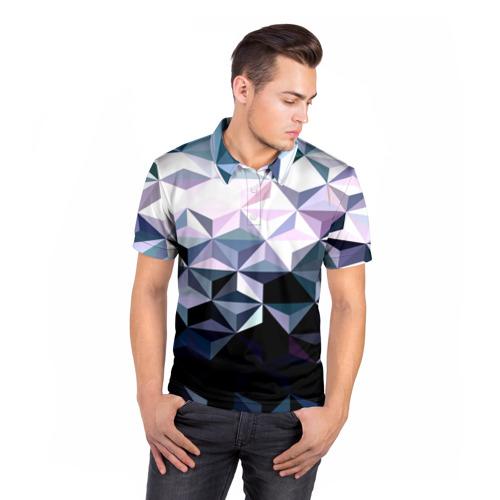 Мужская рубашка поло 3D  Фото 05, Lowpoly Pattern