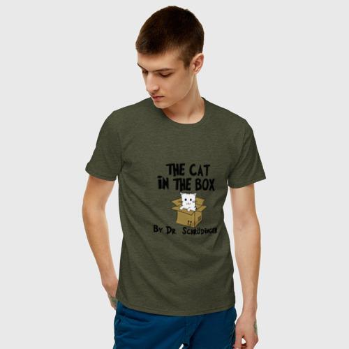 Мужская футболка хлопок Кот Шредингера Фото 01