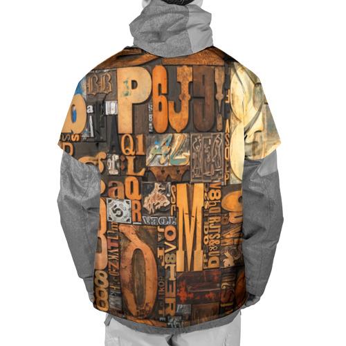 Накидка на куртку 3D  Фото 02, Литеры