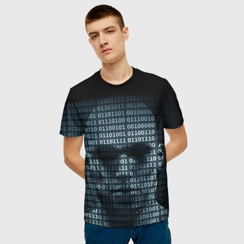 Мужская футболка 3D Цифровой мир Фото 01