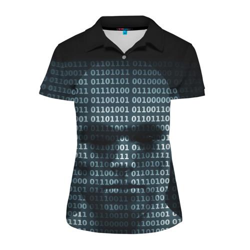 Женская рубашка поло 3D Цифровой мир
