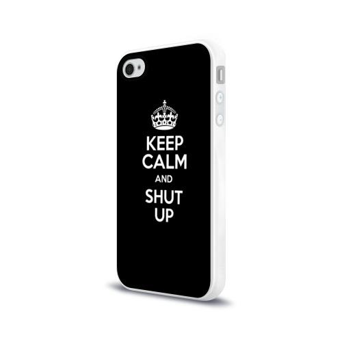 Чехол для Apple iPhone 4/4S силиконовый глянцевый  Фото 03, Keep calm and shut up