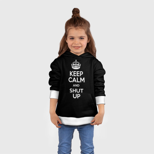 Детская толстовка 3D Keep calm and shut up