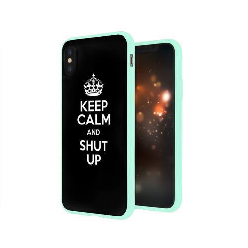Чехол для Apple iPhone X силиконовый глянцевый  Фото 03, Keep calm and shut up
