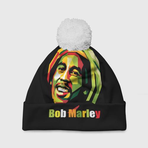 Шапка 3D c помпоном  Фото 01, Bob Marley