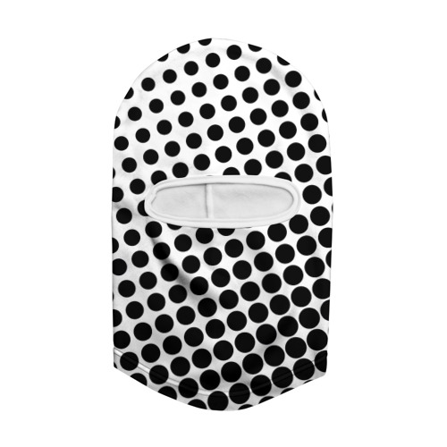 Балаклава 3D  Фото 02, Белый в горошек