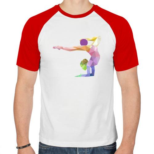 Мужская футболка реглан  Фото 01, Гимнастка геометрия