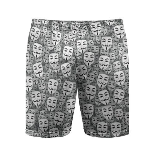 Мужские шорты 3D спортивные Анонимусы