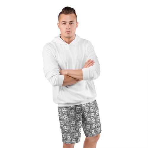 Мужские шорты 3D спортивные  Фото 05, Анонимусы