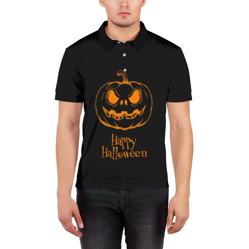 Мужская рубашка поло 3D  Фото 03, Halloween
