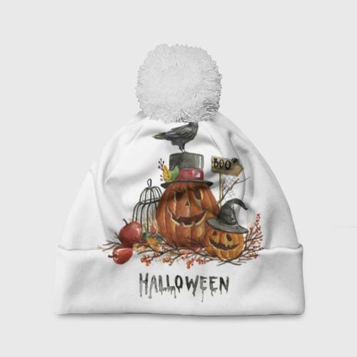 Шапка 3D c помпоном  Фото 01, Halloween
