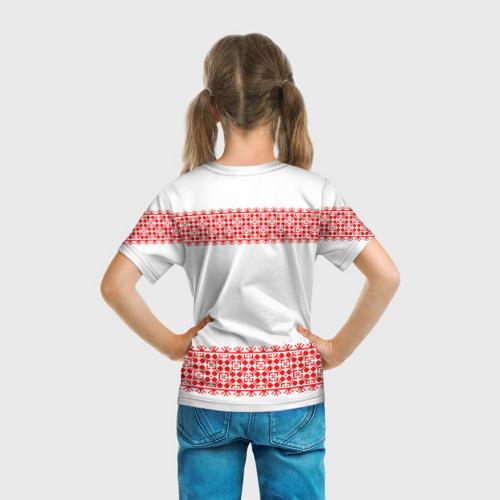 Детская футболка 3D  Фото 04, Славянский орнамент (на белом)