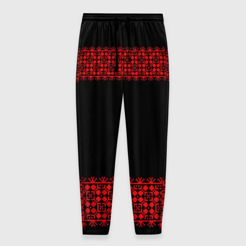 Мужские брюки 3D Славянский орнамент (на чёрном) Фото 01