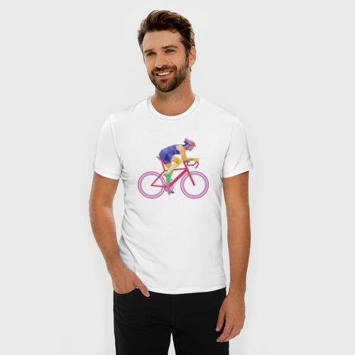 Мужская футболка премиум  Фото 03, Велосипедист