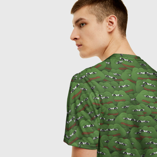 Мужская футболка 3D Грустные лягушки Фото 01