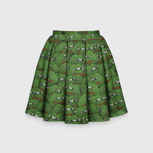Детская юбка-солнце 3D Грустные лягушки