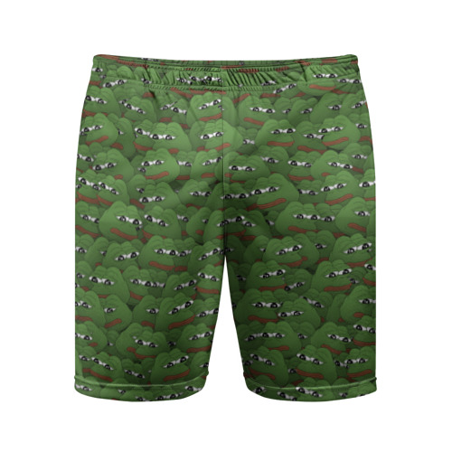 Мужские шорты 3D спортивные Грустные лягушки